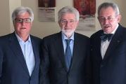 Da sinistra: Michele Cappadona, presidente AGCI Sicilia, Pietro Agen e Salvatore Scalisi, rispettivamente presidente e direttore Confcommercio Sicilia